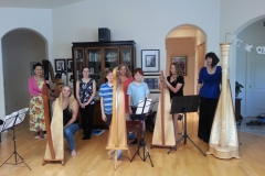 Jan-Walters-Harp-party-with-students